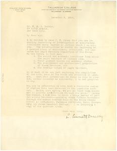 Letter from L. Emmett Drewry to W. E. B. Du Bois