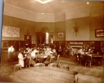 Hough Branch 1910: Carnegie buildilng interior, children's room