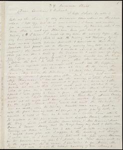 Incomplete letter from Anne Warren Weston, 39 Summer Street, [Boston], to Caroline Weston and Deborah Weston, [1845?]