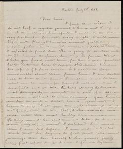 Letter from Deborah Weston, Boston, [Mass.], to Anne Warren Weston, July 21st, 1838