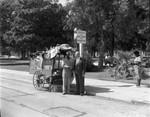 Hahn and street vendor, Los Angeles, 1962