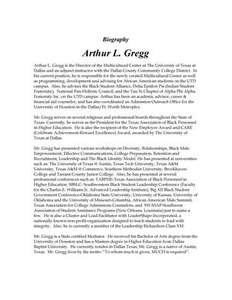 Arthur L. Gregg Biography