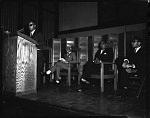 Dr. Eric Williams speaking at H.U. [Howard University], May 1964 [cellulose acetate photonegative]