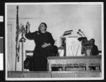 Charlotta Bass speaks at a church, circa 1951/1960, Los Angeles