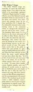 The songs of Ethel Waters