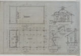 Battle Creek Park, Shelter Building, Southwest, Foundation and Floor Plan