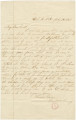 Letter from Charlotte Cherry in West Point, Georgia, to her uncle, Bolling Hall in Alabama.