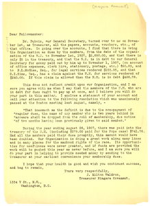 Circular Letter from J. Milton Waldron to Niagara Movement members