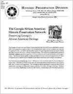 The Georgia African American Historic Preservation Network: preserving Georgia's African American heritage