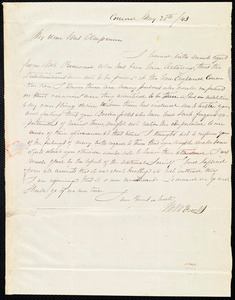 Letter from Mary Merrick Brooks, Concord, [Mass.], to Maria Weston Chapman, May 20th / [18]43
