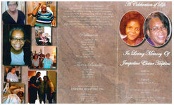 A celebration of life, in loving memory of Jacqueline Elaine Hopkins, Saturday, January 17, 2015, 3:00 p.m., St. James Primitive Baptist Church, 110 Forrest Street, Thomasville, GA 31792, Reverend Gary Sanders, pastor officiating