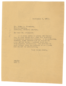 Letter from Crisis to James N. Thompson