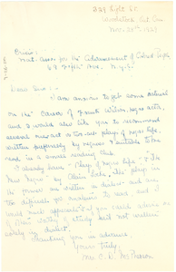 Letter from Mrs. C. D. McPherson to The Crisis
