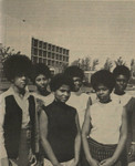 """Photograph from the Daily Sundial, the """"Miss Black and Beautiful Competition,"""" May 13, 1969"""