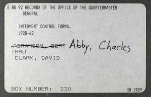 Abby, Charles - Clark, David (1 of 3)