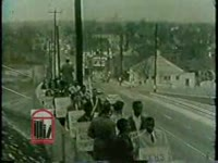 WSB-TV newsfilm clip of African American students picketing several segregated stores in downtown Atlanta, Georgia, 1960 November 25