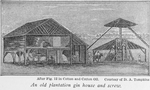 An old plantation gin house and screw