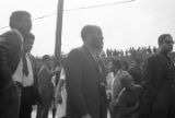 James Bevel on Auburn Avenue during the funeral procession for Martin Luther King, Jr.
