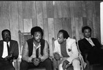 Booker Griffin talking with Jessie Jackson at Victory Baptist Church, Los Angeles, 1970