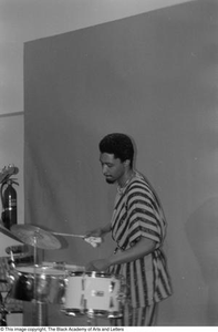 [Photograph of drummer] Conference on Black Women in the Arts