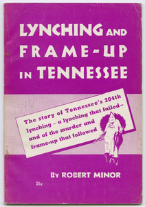 A Lynching and a Frame-Up in Tennessee