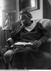 Photograph of Mable Chandler reading a book #3 Dallas/Fort Worth Black Living Legends Dallas/Fort Worth Black Living Legends, 1992