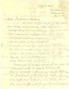 Letter from W. H. Plant to W. E. B. Du Bois