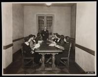 James Weldon Jonson teaching class at Fisk University