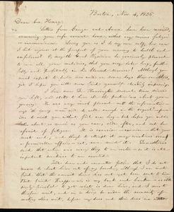 Letter from William Lloyd Garrison, Boston, [Mass.], to Henry Egbert Benson, Nov. 4, 1836