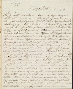 Letter from J. S. C. Murray, New York, [N.Y.], to William Lloyd Garrison, Dec[ember] 8th 1854