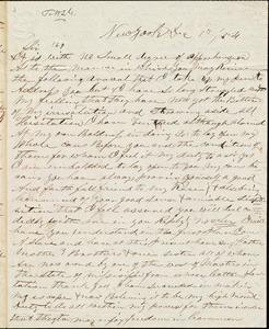 Letter from J. S. C. Murray, New York, [N.Y.], to William Lloyd Garrison, Dec[ember] 8th 1854