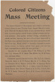 """Colored Citizens Mass Meeting."""