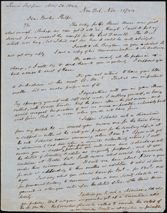 Letter from Lewis Tappan, New York, to Amos Augustus Phelps, 1844 November 28
