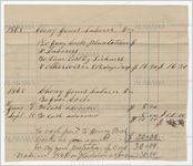 Statement of account of laborer, Cheny Jones, 1868