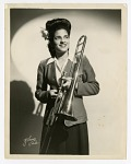 [Member of the International Sweethearts of Rhythm, trombonist.] [Black-and-white photoprint]