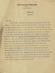 Letter: Valdosta, Georgia to Ben Stein, Macon, Georgia, possibly 1927