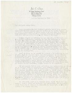 [Letter from José E. Chapa to John J. Herrera - 1954-02-06] [Letter from José E. Chapa to John J. Herrera - February 6, 1954]