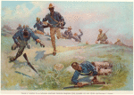 Troop C. Ninth U.S. Cavalry, Captain Taylor, Leading The Charge At San Juan
