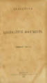 Executive and legislative documents [1860; 1861]