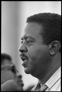 Rev. Ralph Abernathy speaking at the Solidarity Day during the Poor People's March on Washington Portrait in profile