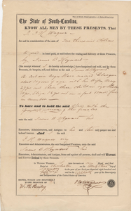 146. Bill of Sale for Slaves between F.H. Wagner and James B. Heyward -- January 23, 1856