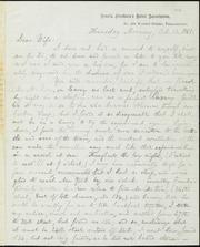 Letter to] Dear Wife [manuscript