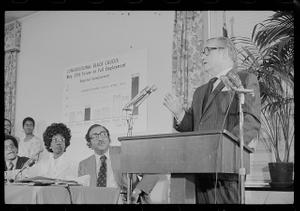 Vice President Rockefeller addresses congressional Black Caucus full employment forum