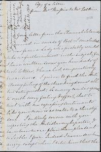 Letter from Isabella Massie, Upper Clapton, [England], to John Bishop Estlin, 1850 March 20