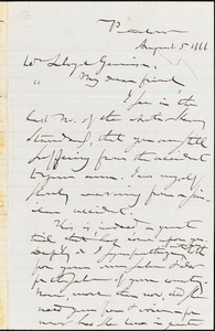 Letter from Gerrit Smith, Peterboro, [New York], to William Lloyd Garrison, 1866 August 5