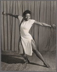 Pearl Primus dancing, likely at Cafe Society Downtown
