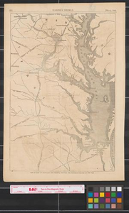 Map of part of Maryland and Virginia : showing the probable theatre of the war.