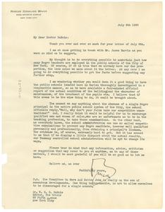 Letter from Roscoe C. Bruce to W. E. B. Du Bois