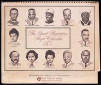 Calendar. The Great American Negro Calendar