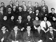 David Dubinsky and others in a posed group photograph